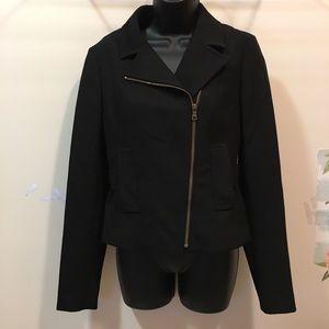 LOFT asymmetrical front zip blazer size 4